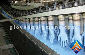 High efficiency nitrile gloves production line