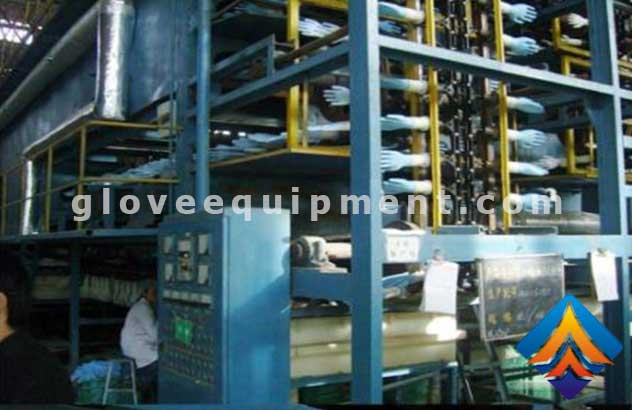 Latex glove production line